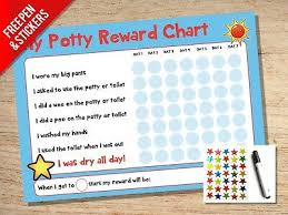 Childrens Sticker Chart Potty Training Reward Chart Kids Childrens Sticker Star