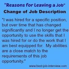 A Good Reason For Leaving A Job Acceptable Reasons For Leaving A Job Changing Jobs