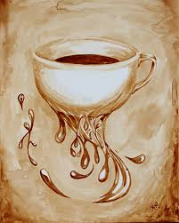 coffee art painting. Beautiful Art Angel SarkelaSaur Created This Original  And Coffee Art Painting