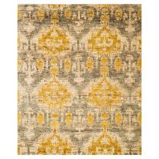 marigold global bazaar golden grey tribal jute rug 5 6x8 6 kathy