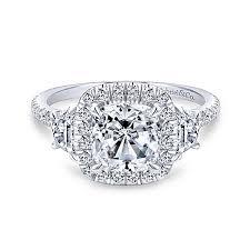 cushion cut diamond engagement rings gabriel co