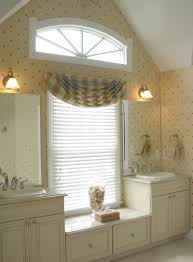 bathroom window designs. Fresh Window Curtain Ideas Complement Every Room: Great Bathroom With Arched And Designs