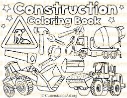 Small Picture Construction Coloring Book Digital Construction coloring Pages