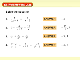 daily homework quiz solve the equation 1 5 2x 3