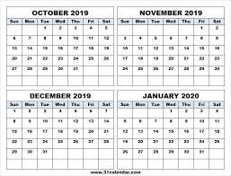 Blank Dec 2020 Calendar Oct Nov Dec 2019 Jan 2020 Calendar A4 Calendar 2019