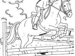 Incantevole Disegni Da Colorare E Stampare Di Cavalli Che Saltano