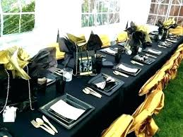 black and gold decorations table exotic decoration ideas silver birthday party decoratio