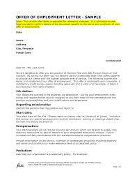 Offer Of Employment Letter Sample Szltlnzm Ideas Pinterest