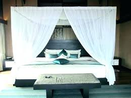 Black Canopy Bed Curtains Popular Of Black Canopy Bed Curtains With ...