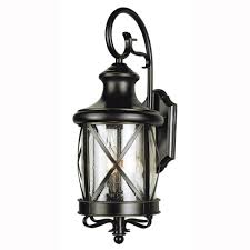 bel air lighting carriage house 2 light outdoor oiled bronze coach lantern with clear glass