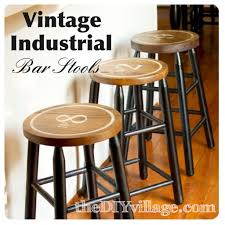 Kitchen Bar Stool Chippy Painted Bar Stools The Turquoise Home