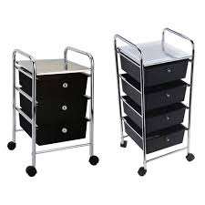 office trolley cart. Office Trolley Cart. 3 4 Drawer Black Cart Storage Portable Rack Chrome Kitchen R