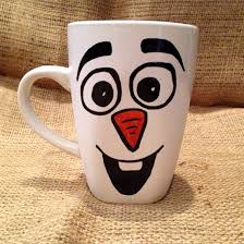 the ORIGINAL design of Disney's Frozen's Olaf the Snowman Coffee Mug // I  love all things warm movie quote - Disney Olaf Frozen character