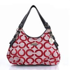Coach Fashion Signature Medium Red Shoulder Bags ERD