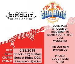 Pdga Ratings Chart Sun King Presents Mvp Circuit Challenge Sunset Ridge 2019