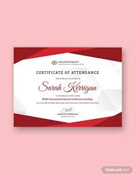 Free Conference Attendance Certificate Template Download 323