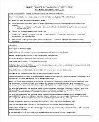 7 Employment History Template Precis Format Work Bio Pdf