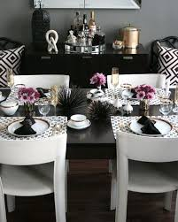 coastal glam dining room love these colors together black white dark gray black white modern kitchen tables