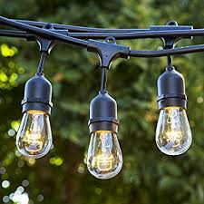 patio lights.  Patio Outdoor Patio String Lights  Heavy Duty Hanging 50 Feet  With 25 To O
