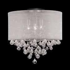 lamp shade with crystals new 4 drum crystal flush mount ceiling light lighting 10
