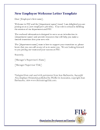 Welcome Letter Template New Employee Welcome Letter Template