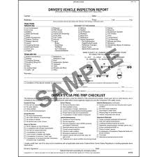 Detailed Drivers Vehicle Inspection Report Csa Checklist Tanker Book Format