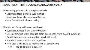 Wentworth Grain Size Chart Sedimentology Grain Parameters Reading Assignment Boggs