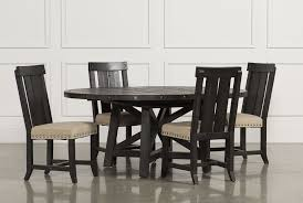 Living And Dining Room Furniture Jaxon 5 Piece Extension Round Dining Set W Wood Chairs Living Spaces
