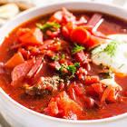 authentic  russian ukrainian borscht