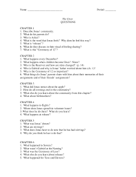 giver questions period the giver questions chapter 1 1