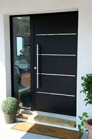 modern front doors. Solid Door With Horizontal Details Creates A Modern Look. Front Doors