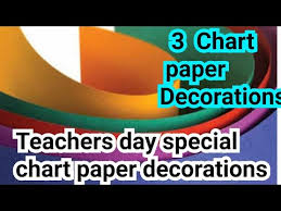 Cheap Chart Paper For Teachers 3 Chart Paper Decoration Idea For Teachers Day How To