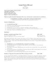 Federal Resume Samples – Eukutak