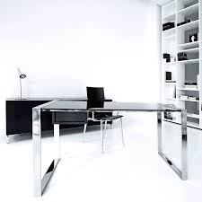 chrome office desk. Cool White Glass Desk Chrome Office A