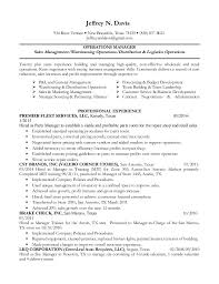 operations manager cv high touch operations manager resume 28 images resume sles by