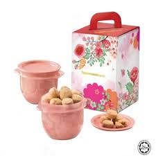 tupperware cny cookies gift set premium rose gold 11street msia biscuits