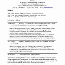 Speech Therapy Resume Updated Occupational Therapy Resume Unique ...