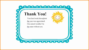 Thank You Message To Boss For Gift How To Write A Thank You Note For A Teacher