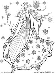 If you want a quick, easy color so that you can spend the rest of the day curled up with a book, this one is the way to go! Coloring Page Winter Fairy Free Printable Coloring Pages Img 6126