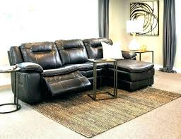 macys furniture grey leather sectional bobs reclining with chaise home improvement