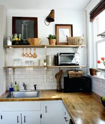 Kitchen With Shelves Instead Of Upper Cabinets Rjcompanyinfo