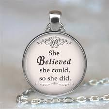 whole jewelry inspirational vine chain necklace faith pendant she believed she could so she did gold pendants for necklaces
