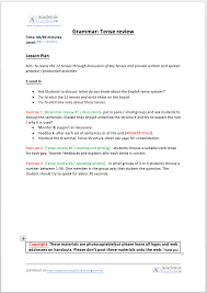 English Tense Structure Chart Grammar Tense Review The 12 Tenses In English Academic