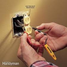how to install electrical outlets in the kitchen the family handyman replacing electrical outlet