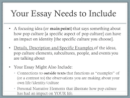 week introducing essay ppt video online  your essay needs to include