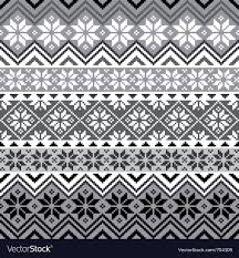 Nordic Pattern Delectable Nordic Snowflake Pattern Royalty Free Vector Image