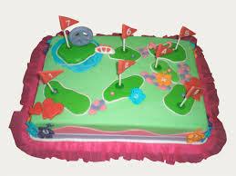 Mini Golf Cake Ryans Cake Ideas Golf Birthday Cakes Cake Golf
