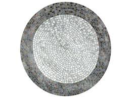 deirdre dyson roman pond mosaic round rug with geometric shapes
