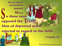 Image result for james and jambres in the bible