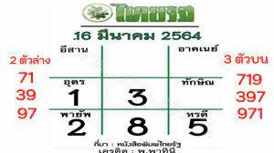 โค้งสุดท้าย หวยไทยรัฐ 16/3/64 เลขเด็ดเลขดังงวดนี้ 2ตัวและ 3ตัว พร้อมจับคู่  - YouTube